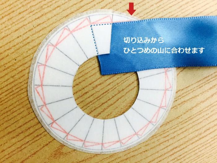 リボンロゼットの作り方15|結婚式ムービーchouchou(シュシュ)