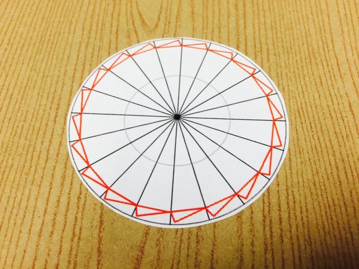 リボンロゼットの作り方3切った型紙|結婚式ムービーchouchou(シュシュ)