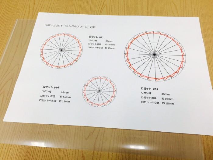 リボンロゼットの作り方2型紙|結婚式ムービーchouchou(シュシュ)