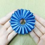 リボンロゼットの作り方(シングルプリーツ)③ 縫い方編 【結婚式のトレンド】