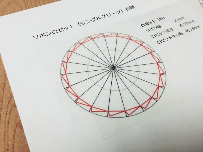 リボンロゼット 台紙2-2|結婚式ムービーchouchou(シュシュ)