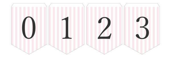 ガーランド無料テンプレート:Stripe_pink_0-9|結婚式ムービーchouchou(シュシュ)