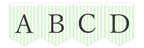 ガーランド無料テンプレート:Stripe_green_A-Z|結婚式ムービーchouchou(シュシュ)