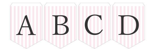 ガーランド無料テンプレート:Stripe_pink_A-Z|結婚式ムービーchouchou(シュシュ)