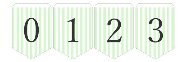 ガーランド無料テンプレート:Stripe_green_0-9|結婚式ムービーchouchou(シュシュ)