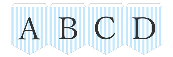 ガーランド無料テンプレート:Stripe_blue_A-Z|結婚式ムービーchouchou(シュシュ)