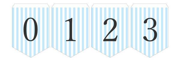 ガーランド無料テンプレート:Stripe_blue_0-9|結婚式ムービーchouchou(シュシュ)