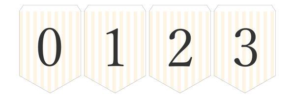 ガーランド無料テンプレート:Stripe_yellow_0-9|結婚式ムービーchouchou(シュシュ)