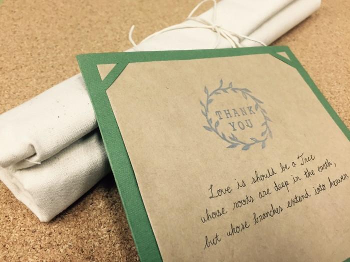 消しゴムはんこ使用例 (2)|結婚式ムービーchouchou(シュシュ)