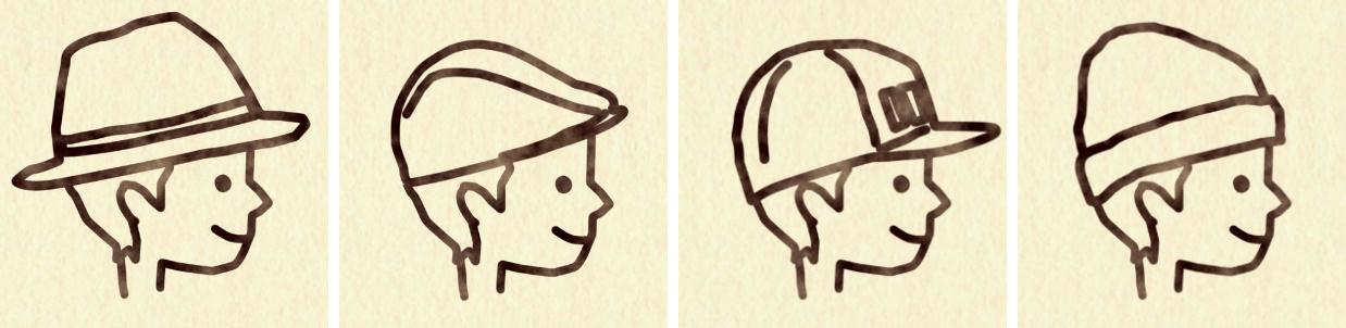 プロフィールムービーヴィネット_新郎帽子